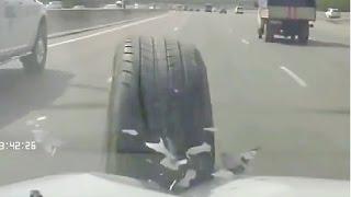 Flying car wheel  Car Crash Compilation