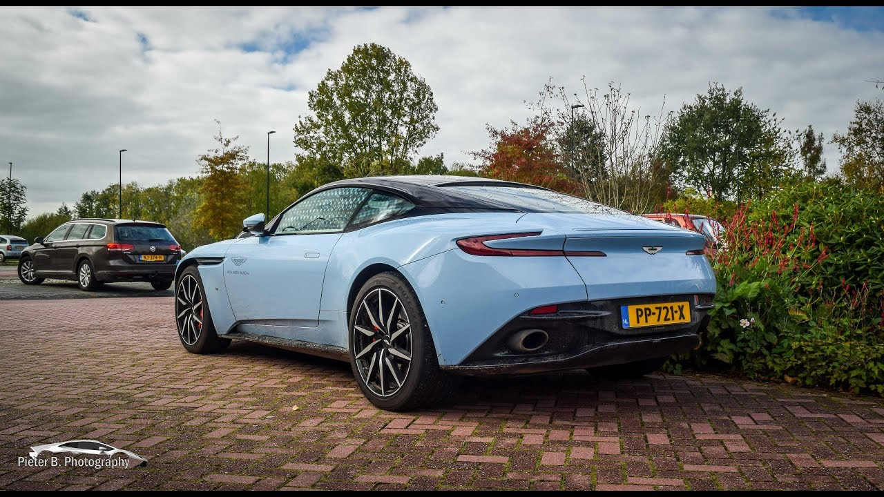 Baby Blue Aston Martin Db11 Start Up And Revs Youtube