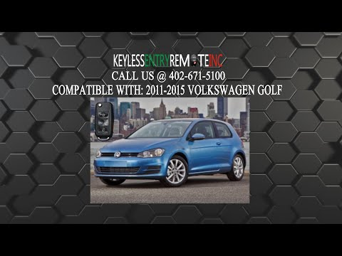 How To Replace Volkswagen Golf Key Fob Battery 2011 2012 2013 2014 2015