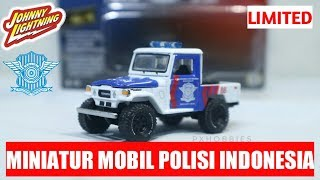 JOHNNY LIGHTNING 1980 TOYOTA LAND CRUISER POLISI INDONESIA - UNBOXING & REVIEW