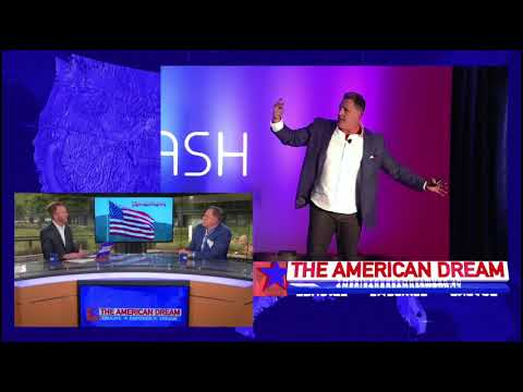 Roberto Monaco on The American Dream TV show talking about storytelling