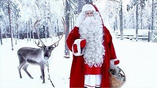 Message du Père Noël aux enfants: Laponie avant Noël - vrai Papa Noel et rennes à Rovaniemi Finlande