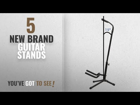 Top 10 New Brand Guitar Stands [2018]: 1Pc Adjustable Folding Tubular Guitar Stand Holder Universal