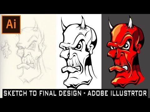 TUTORIAL: SKETCH to FINAL DESIGN | ADOBE ILLUSTRATOR WORKFLOW| HOW TO| TIME LAPSE thumbnail