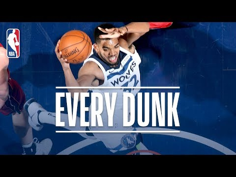 Karl-Anthony Towns, Andre Iguodala, and Every Dunk From Friday Night | November 24, 2017