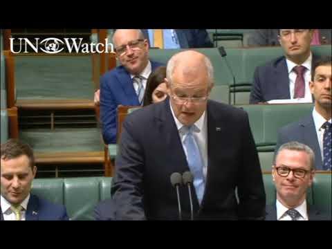 Australian PM Scott Morrison on the UN & Israel