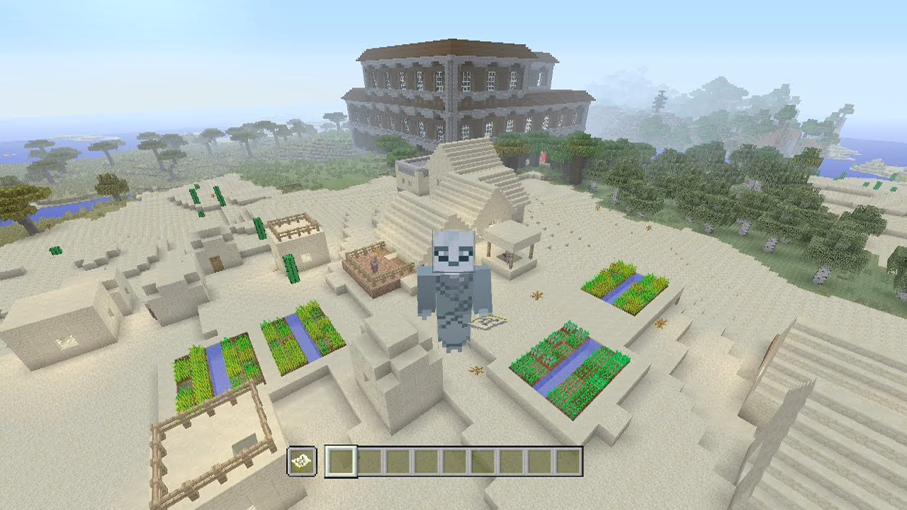 Minecraft Xbox One / PS4 TU55 Seed: Woodland Mansion and Village at Spawn