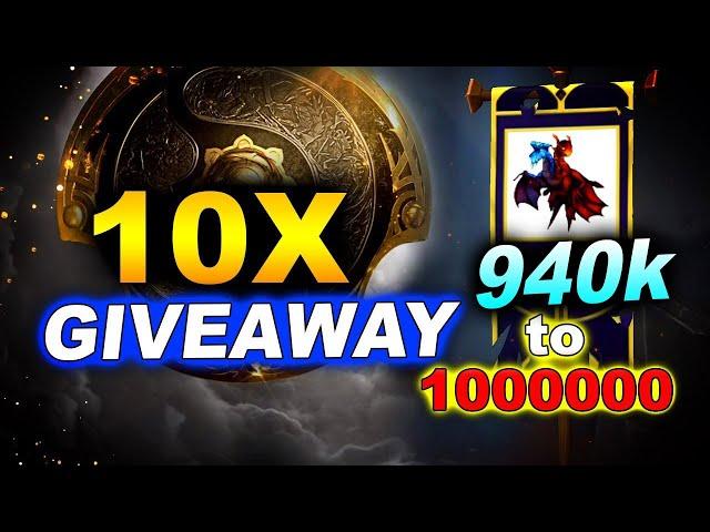 10x Battle Pass TI10 GIVEAWAY - 940k NoobFromUA Road to 1 Million
