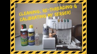 Cleaning, Re-Threading & Calibrating my Brother 1034D Serger