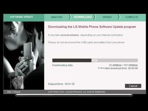 LG GD880 mini: Update Error (Firmware V10E)