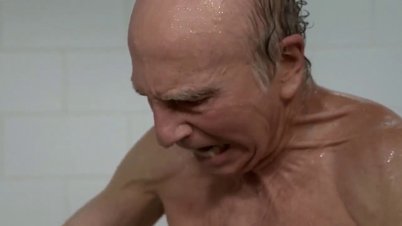 Larry David Tries To Use The Shampoo Dispenser (Curb Your Enthusiasm Season 9)