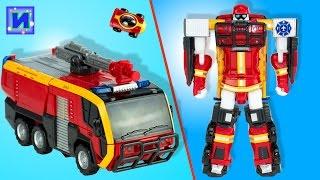 Новый Тобот трансформер. Трансформируем робота в пожарную машинку.