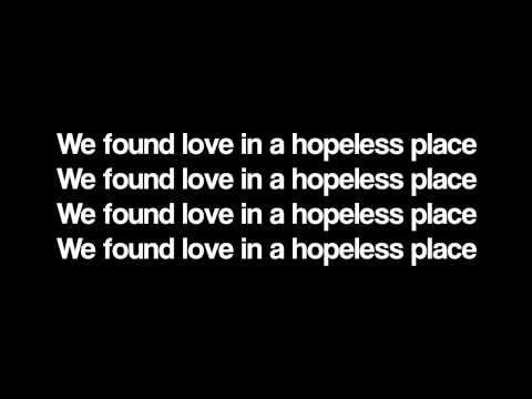 Rihanna  We Found Love LYRICS