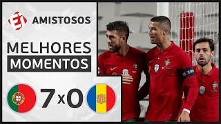 CR7 MARCA E PORTUGAL GOLEIA! PORTUGAL 7 X 0 ANDORRA - MELHORES MOMENTOS