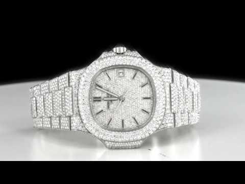 463a39eeee738 All around bust down custom Diamond Patek Philippe 5711 Men s luxury watch