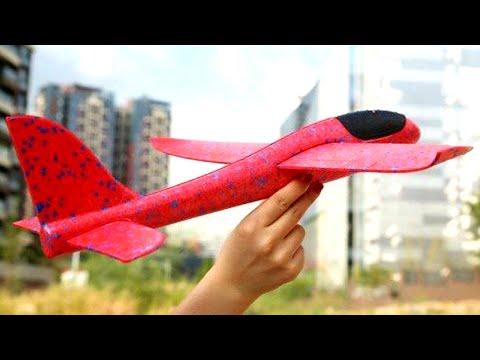 🌑 САМОЛЕТ ИЗ ПЕНОПЛАСТА самая крутая игрушка этого лета Physics Toys