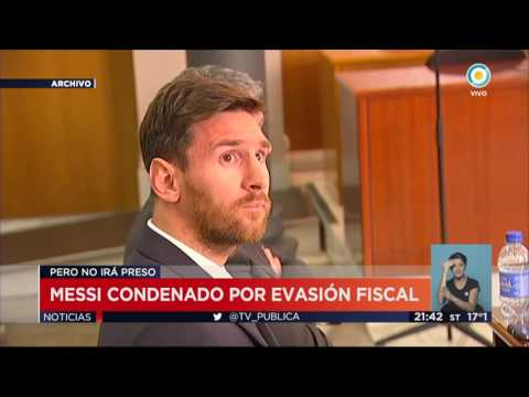 Messi condenado por evasión fiscal