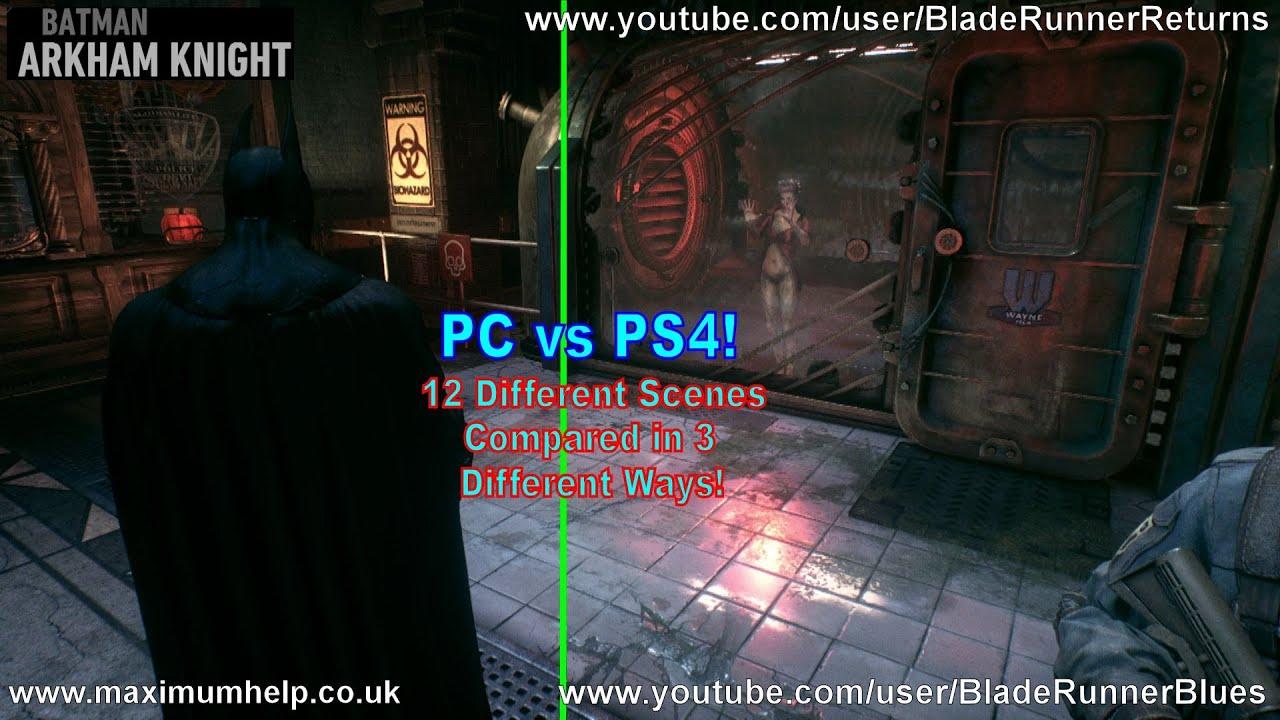 PC vs PS4! Batman Arkham Knight Gameplay Comparison ...