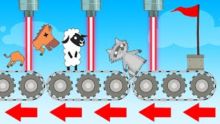 Cross The LASER ASSEMBLY LINE To FINISH! (Ultimate Chicken Horse)
