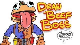 Beef Boss Fortnite How To Draw [Harptoons]