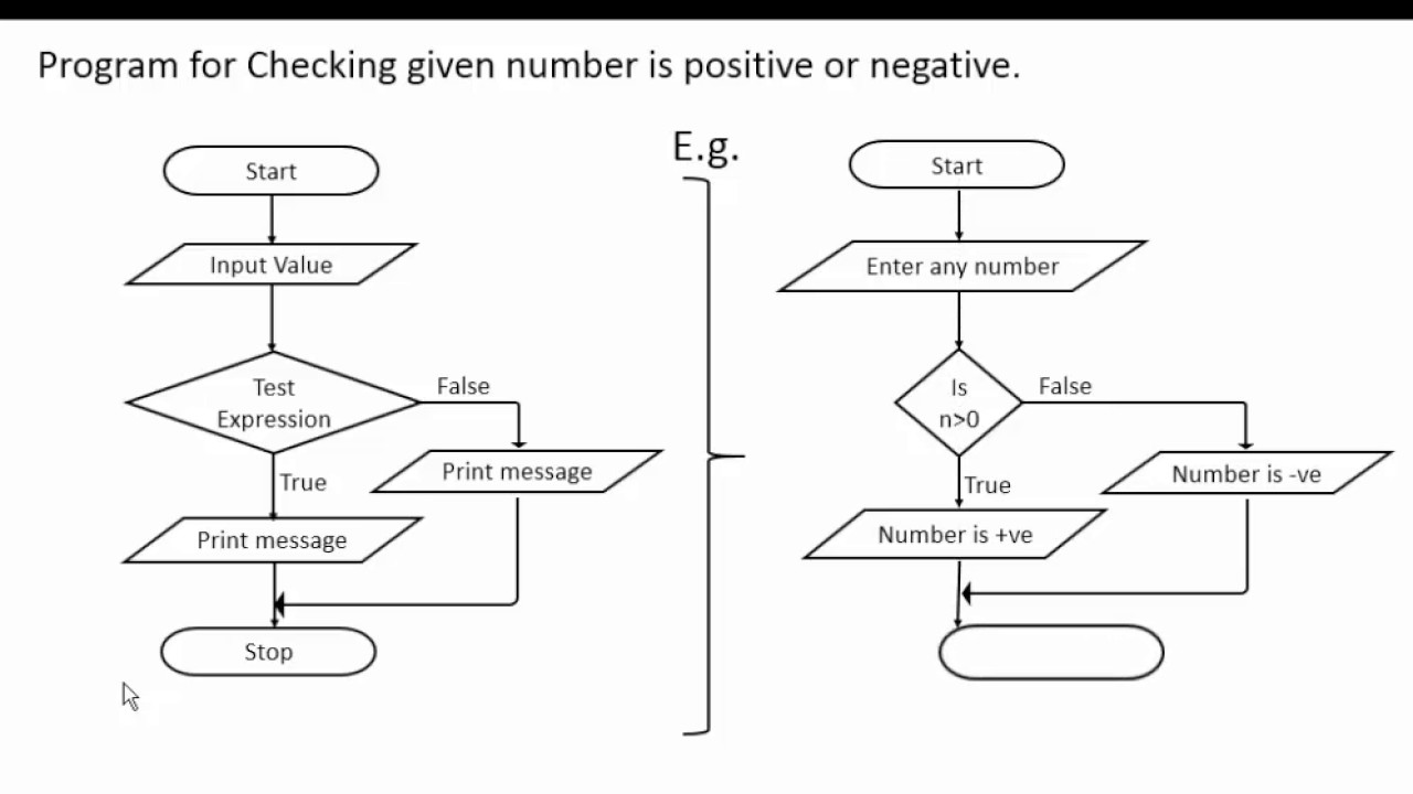 if statement in c programming with flowchart youtube