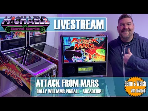 Arcade1Up Attack From Mars Live Gameplay | MichaelBtheGameGenie from MichaelBtheGameGenie