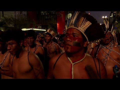 Thousands of indigenous people march in Brazil for land rights