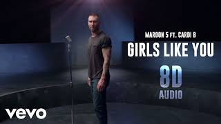 Download Lagu Maroon 5 - Girls Like You ft. Cardi B | 8D Audio || Dawn of Music || Mp3