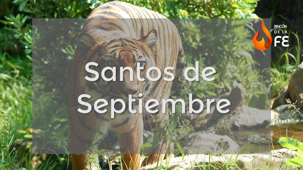 Calendario Santoral.Santoral De Septiembre Calendario Santoral Catolico