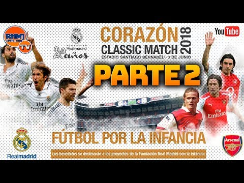Corazón classic match 2018 | real madrid vs. arsenal parte 2