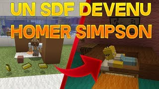 MINECRAFT RP - UN SDF DEVENU HOMER SIMPSON !