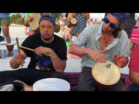 The Drum Circle on Siesta Key in Sarasota, Florida