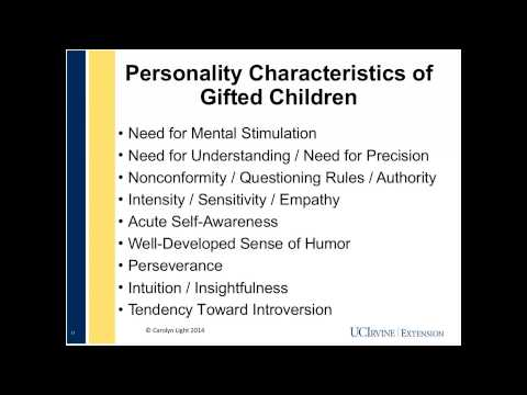 Social and Emotional Needs of the Gifted Child: What Parents Want to Know (2/27/2014)