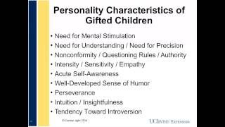 Social and Emotional Needs of the Gifted Child: What Parents Want to Know