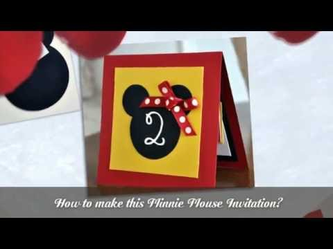 How To Make Minnie Mouse Invitations Youtube