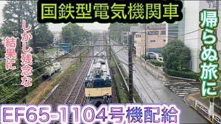 国鉄型電気機関車 EF65-1104 長野に廃車回送