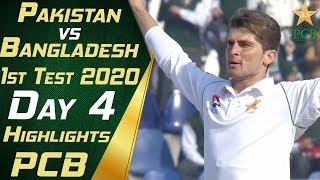 Pakistan vs Bangladesh 2020 | Full Highlights Day 4 | 1st Test Match | PCB
