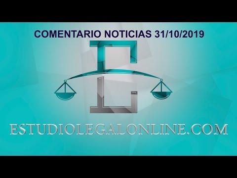 Comentarios Noticias Estudiolegal 31/10/2019 www.estudiolegalonline.com