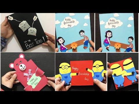 4 Amazing Friendship Day Card Ideas| Creative Gift Ideas for Friendship Day| Greeting Card Tutorial