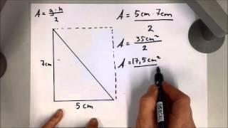 Hvordan regne areal av ulike trekanter