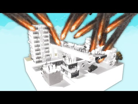 I Summoned 500 Meteorites On A City And This Happened In City Destructor