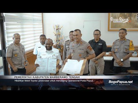Pemerintah Kabupaten Mamberamo Tengah Hibahkan Mobil Toyota Land Cruiser Kepada Polda Papua