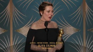 [HD] Olivia Colman Wins Best Actress | 2019 Golden Globes