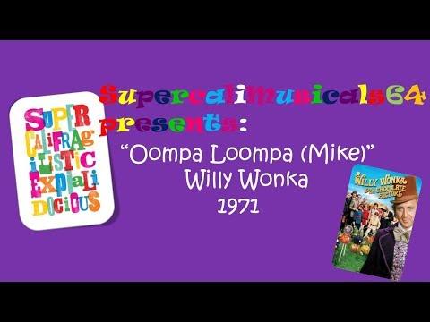 Ooompa Loompa (Mike) - Lyrics Willy Wonka and the Chocolate Factory 1971