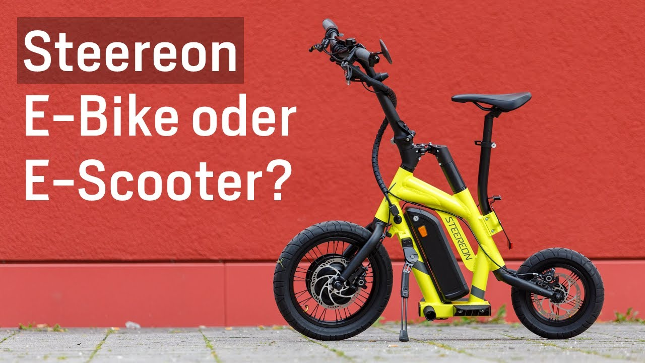 Steereon: E-Bike oder E-Scooter?