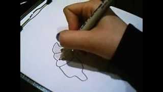 how to draw ice-cream corn and banana