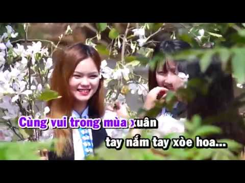 [HD] Karaoke Đẹp mãi mùa hoa ban - ST: Mạnh Cường (Karaoke by Kgmnc)