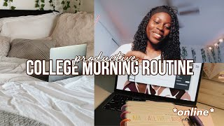 my college morning routine *online edition*