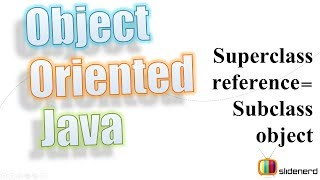 #54 Java SuperClass Reference Variable Equals SubClass Object: Polymorphism [HD 1080p]