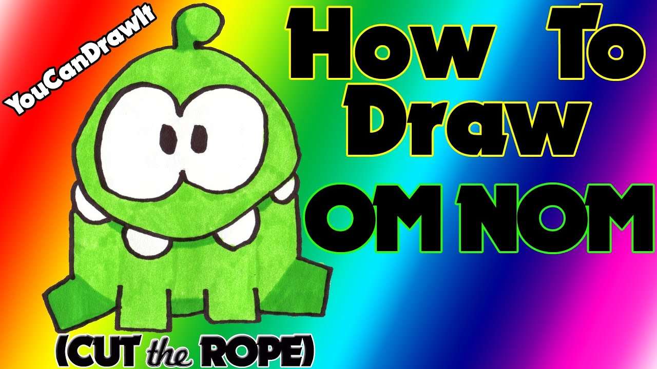 Nom nom coloring pages coloring coloring pages - How To Draw Om Nom From Cut The Rope Youcandrawit